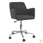 Kanto ARTIKA-S Wool Task Chair with Chrome Base and Wheels; Gray