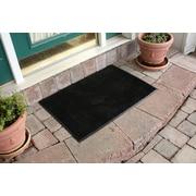 Bungalow Flooring Aqua Shield Dirt Stopper Supreme Doormat; Black