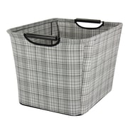 Household Essentials Tapered Storage Bin with Wood Handles; 11'' H x 16'' W x 13'' D