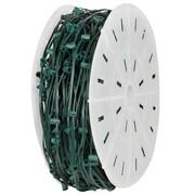 Kringle Traditions E12 Candelabra Light Spool 18'' Lead; Green