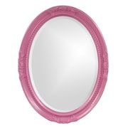 Howard Elliott Queen Ann Mirror; Hot Pink