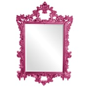 Howard Elliott Sherman Mirror; Hot Pink