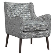 Handy Living Lilian Arm Chair; Blue