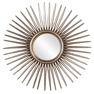 Howard Elliott Cascade Leaf Starburst Wall Mirror