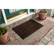 Bungalow Flooring Aqua Shield Dirt Stopper Supreme Doormat; Brown/Black