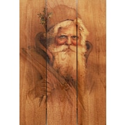 Gizaun Art 3 Piece Father Christmas Painting Print on Canvas Set