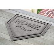 Bungalow Flooring Aqua Shield Home Plate Mat; Medium Gray