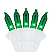 Kringle Traditions 50 Mini Lights 4'' Lead; Green