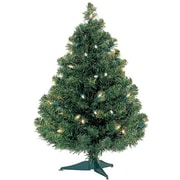 Kringle Traditions Douglas 24'' Green Fir Artificial Christmas Tree w/ 35 Light; Clear