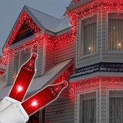 Kringle Traditions Mini Icicle Light; Red