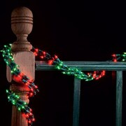 Kringle Traditions 108'' Garland Light; Red and Green