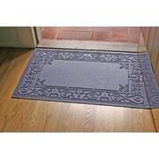 Bungalow Flooring Aqua Shield Iron Fleur Doormat; Bluestone