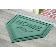 Bungalow Flooring Aqua Shield Home Plate Mat; Aquamarine