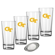Kraftware Collegiate 16 Oz. Pint Sports Glasses (Set of 4); Georgia Tech