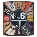Infinity Instruments Peddler License Plate Wall Clock