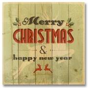 Gizaun Art Wile E. Wood Merry Christmas Reindeer Wall Art