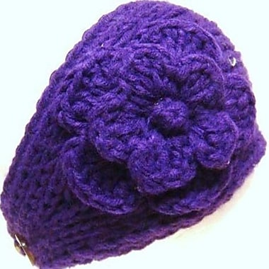 Best Desu Handmade Knit Crochet Headband, Purple