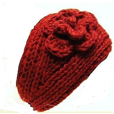 Best Desu Handmade Knit Crochet Headband, Red