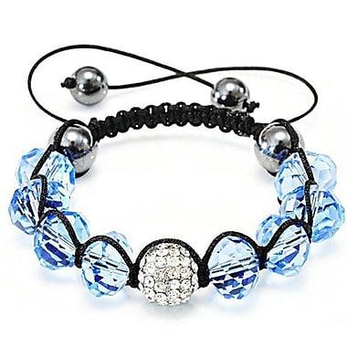 Best Desu Shambala-Style Crystal Bracelet, Aquamarine