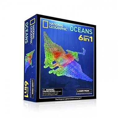 The Laser Pegs® 6-in-1 National Geographic, Oceans Building Kit