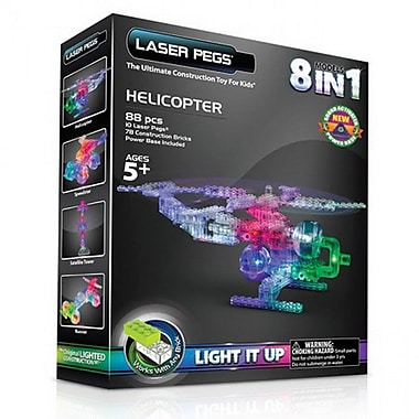 The Laser Pegs® 8-in-1 Helicopter Building Kit