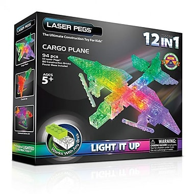 The Laser Pegs® 12-in-1 Cargo Plane Building Kit
