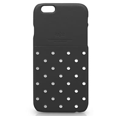 Kajsa iPhone 6 Plus Neon Collection Dot Pattern Pocket Back Case, Black