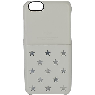 Kajsa iPhone 6 Plus Neon Collection Star Pattern Pocket Back Case, Grey