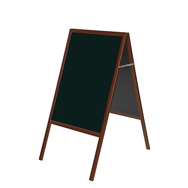 MasterVision Magnetic Black Wet Erase Sign Board 36