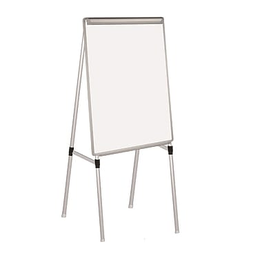 MasterVision Silver Easy Clean Dry Erase Quad-Pod Telescoping Presentation Easel, Silver 28