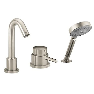 Hansgrohe Talis S Single Handle Deck Mounted Roman Tub Faucet Trim w/ Hand Shower; Brushed Nickel