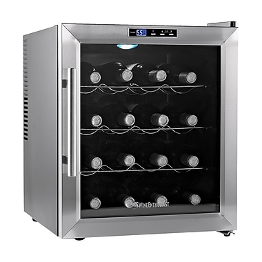 Wine Enthusiast Companies Silent 16 Bottle Single Zone Freestanding Wine Refrigerator