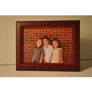 Budd Leather Leather Picture Frame; Burgundy