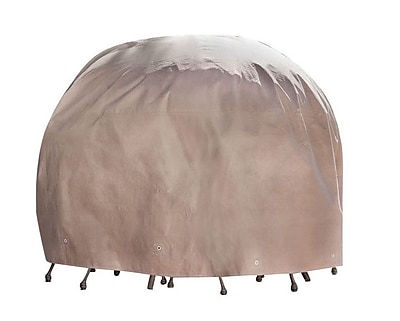 Duck Covers Elite Round Patio Table & Chair Set Cover; 29'' H x 90'' D