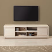 dCOR design 71'' TV Stand; Weathered White