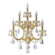 Worldwide Lighting Maria Theresa 7-Light Wall Sconce; Polished Gold
