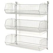 Nexel Wall Mount Basket 3 Shelf Shelving Unit; 54'' H x 36'' W x 14'' D