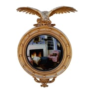 Hickory Manor House Carved Eagle Convex Mirror; Gold Leaf