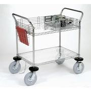 Nexel 2 Shelf Computer/Instrument Cart; 44'' H x 48'' W x 24'' D