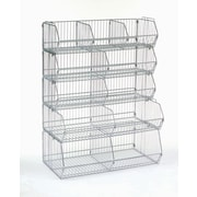 Nexel Dividers for Wire Bins; 0.43'' H x 9'' W x 20'' D