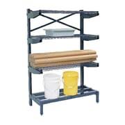 Nexel Cantilever 72'' H 5 Shelf Shelving Unit; 72'' H x 48'' W x 24'' D