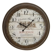 EC World Imports Urban Oversized 23'' Chateau Grand Weathered Vintage Classic Wall Clock