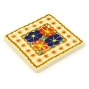 Polmedia Polish Pottery 4.37'' x 4.37'' Stoneware Tile in Multi