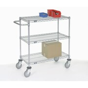 Nexel Adjustable Wire Shelf Cart; 40'' H x 60'' W x 18'' D