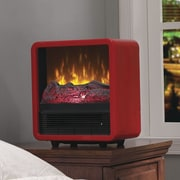 Duraflame Twin Star Home 1,500 Watt Portable Electric Cabinet Heater; Red