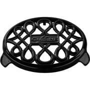 La Cuisine Round Cast Iron Trivet; Black