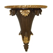 Hickory Manor House Palm Bracket; Walnut Gold Leaf