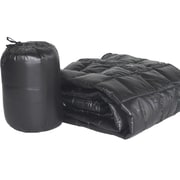PUFF Ultra Light Indoor/Outdoor w/ Compact Travel Bag Throw; Black