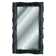 Hickory Manor House Decorative Rectangle Mirror; Black Gold Silver