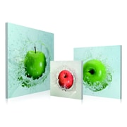 Artistic Bliss Apples Droping 3 Piece Framed Photographic Print Set